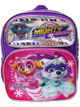 "Paw Patrol - Mighty Pups 12"" Deluxe Toddler Size Backpack - Super Hero Puppies - A18999"