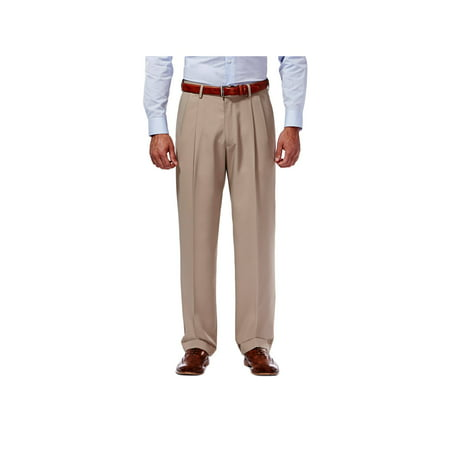 Haggar Men's Mynx Gabardine Pleat Front Dress Pant Classic Fit 11111836245 ()