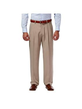 Haggar Men's Mynx Gabardine Pleat Front Dress Pant Classic Fit 11111836245