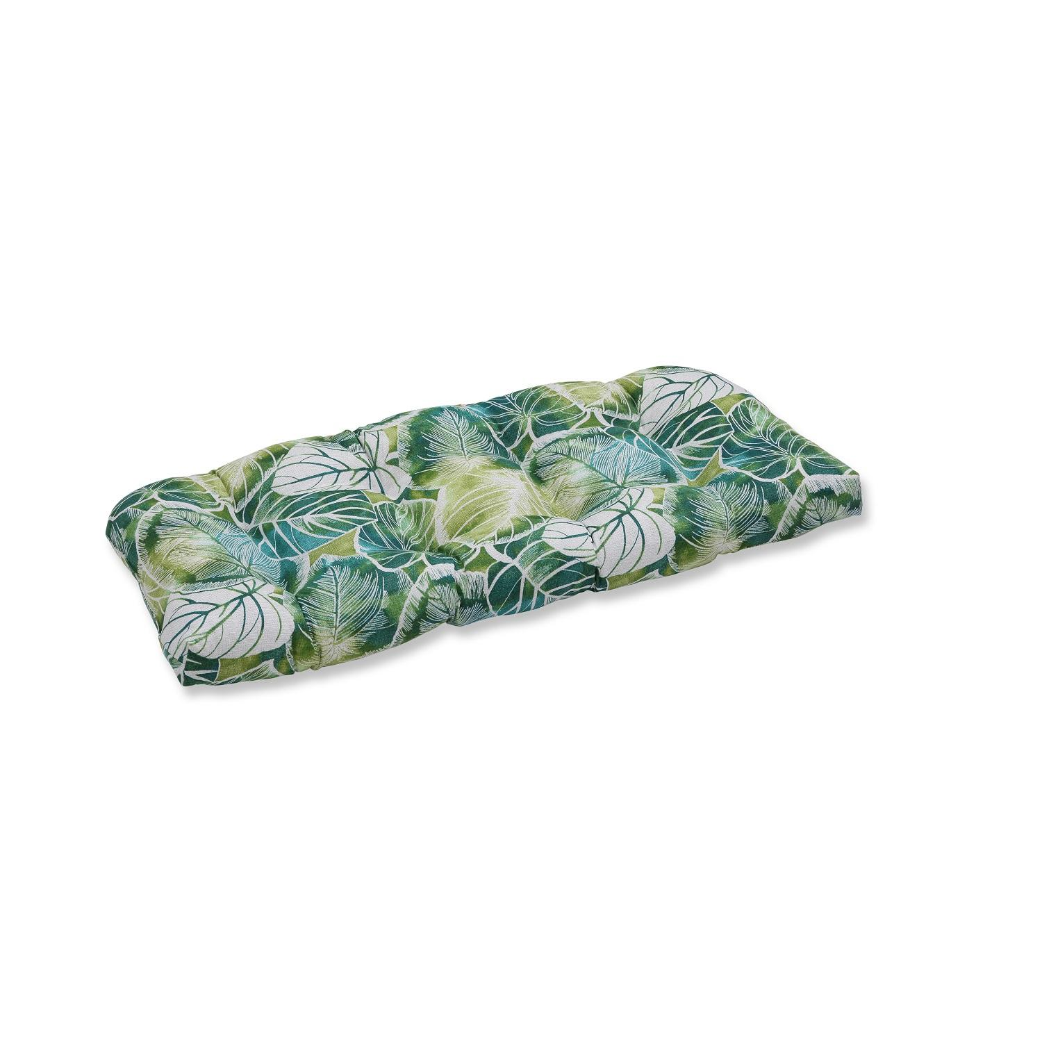 """44""""  """"Tropical Oasis"""" Iguana and Blue Green Wicker Loveseat Cushions"""