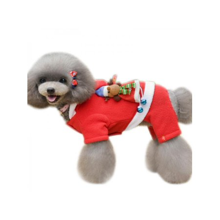 Taykoo Christmas Dog Puppies Hoodies Warm Soft Four Legged Coats