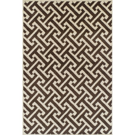 Dalyn Marcello Area Rugs Mo998ch Contemporary Choc Diagonal Lines Inverse Patterned Rug