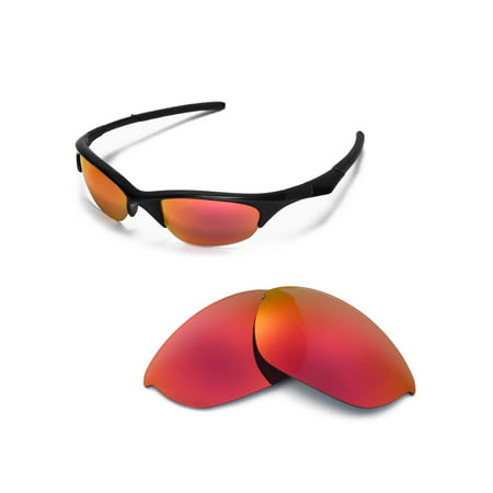 Walleva Fire Red Polarized Replacement Lenses for Oakley Half Jacket (What Are Non Polarized Sunglasses)