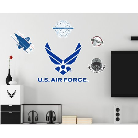 U.S. Air Force Logo Repositionable Military Wall Decals Posters Decor