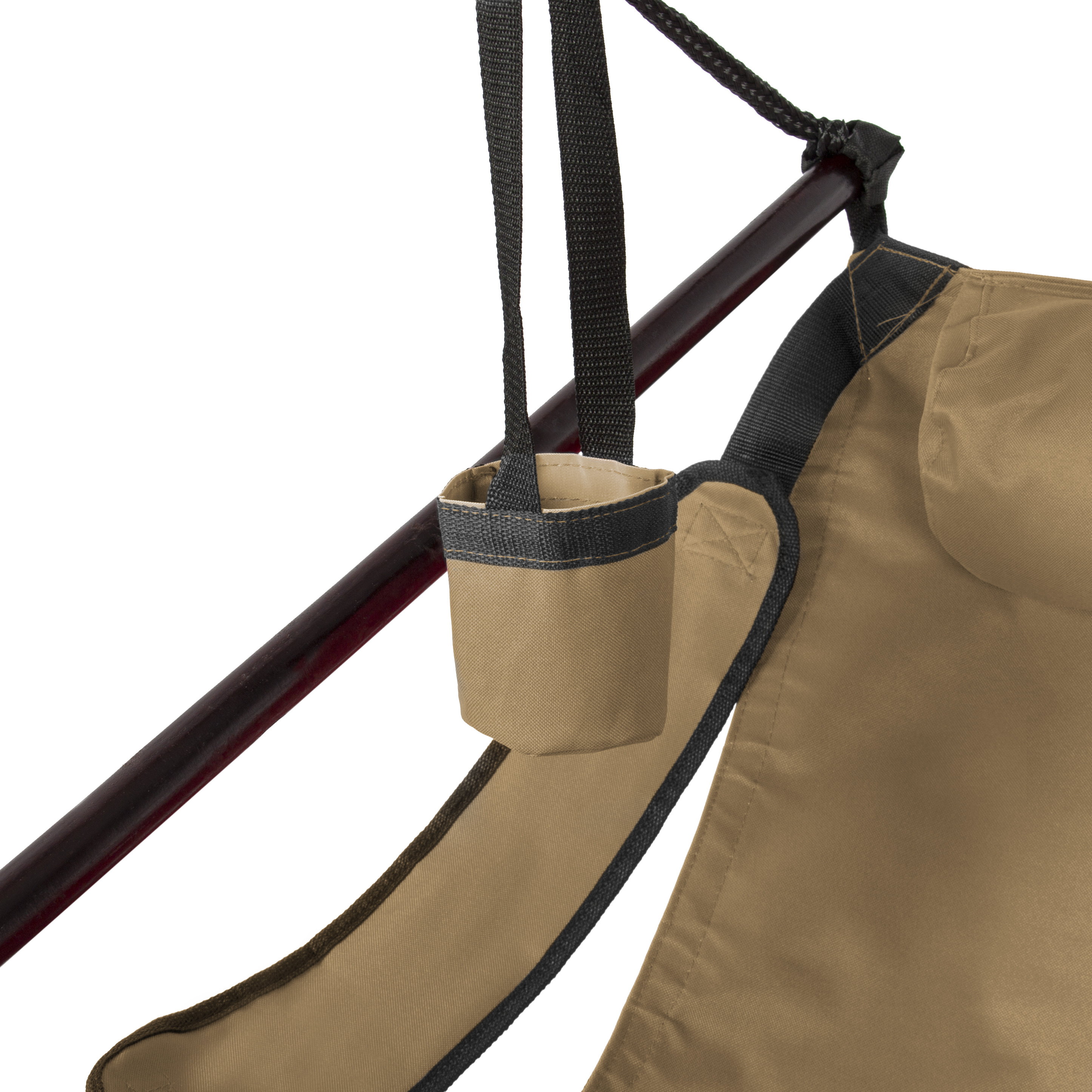 Hammock Hanging Chair Air Deluxe Outdoor Chair Solid Wood 250lb   Red    Walmart.com