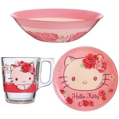 Luminarc u0027Hello Kitty Rose Passionu0027 3-pc Unbreakable Glass Child Dinnerware Set  sc 1 st  Walmart.com & Luminarc u0027Hello Kitty Rose Passionu0027 3-pc Unbreakable Glass Child ...