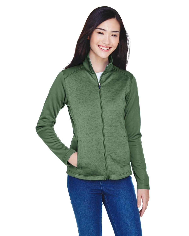 Devon /& Jones Womens Newbury Colorblock M/élange Fleece Full-Zip
