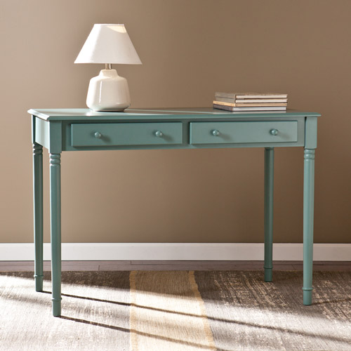Haslet 2-Drawer Writing Desk Agate Green