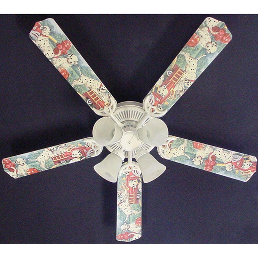 Ceiling Fan Designers Dalmatian Puppies Fire truck Print ...