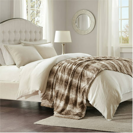 Home Essence Marselle Faux Fur Oversized Bed Throw
