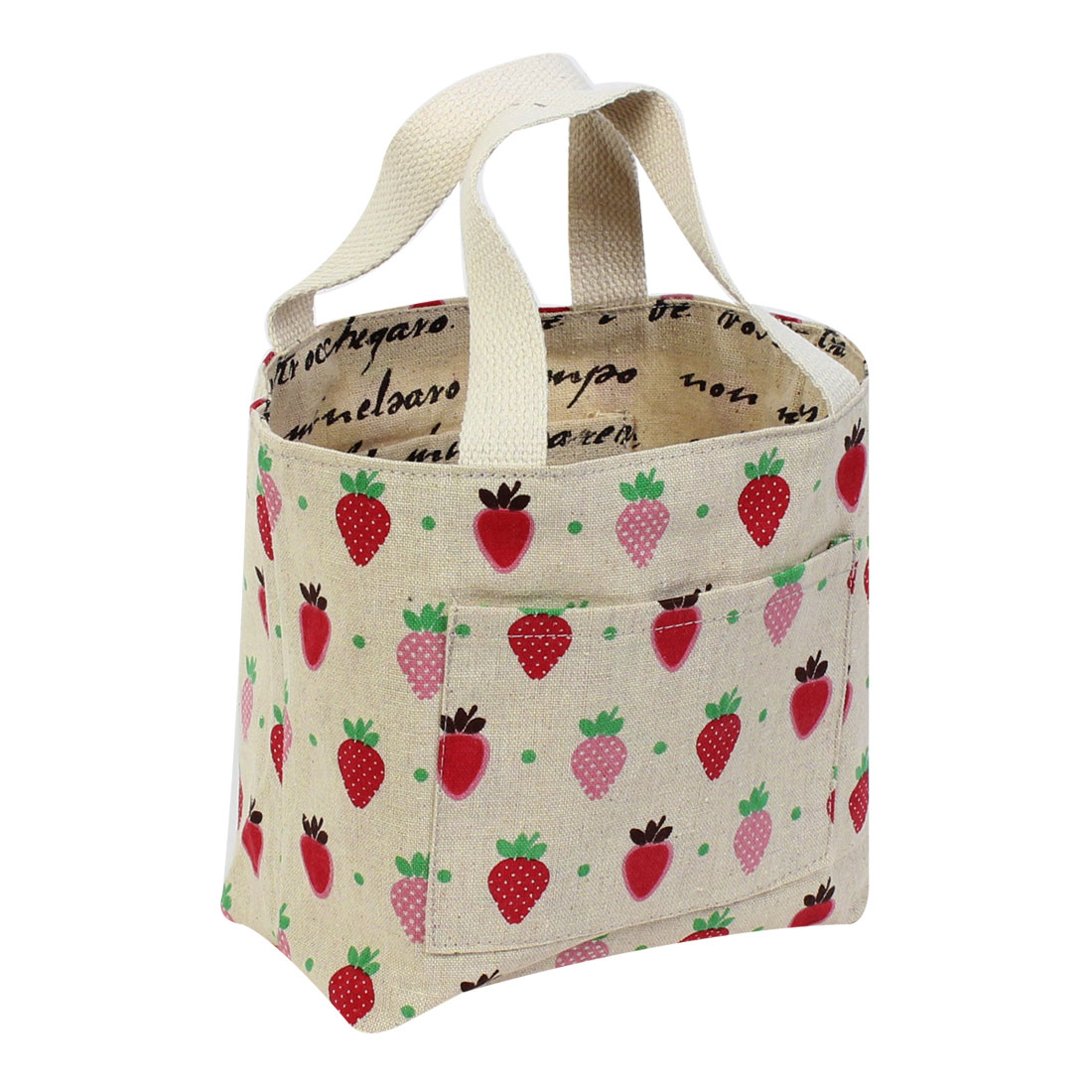 Strawberry Pattern Reusable Shopping Grocery Tote Bag