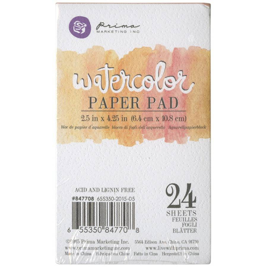 "Watercolor 140lb Cold Press Paper Pad, 2.5"" x 4.25"", 24pk"