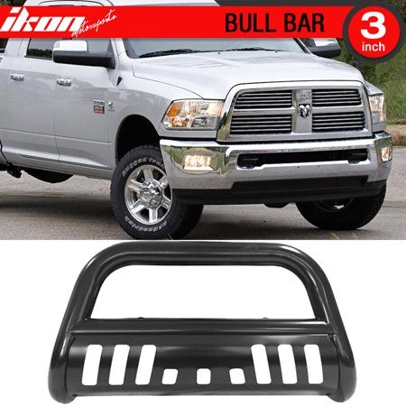 2500 Bull Bar (Ikon Motorsports Bull Bar Grille Guard - Fits 10-16 Dodge Ram 2500 3500 Black )