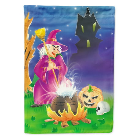 Witch and her Castle Flag Canvas House Size - Castle Flags