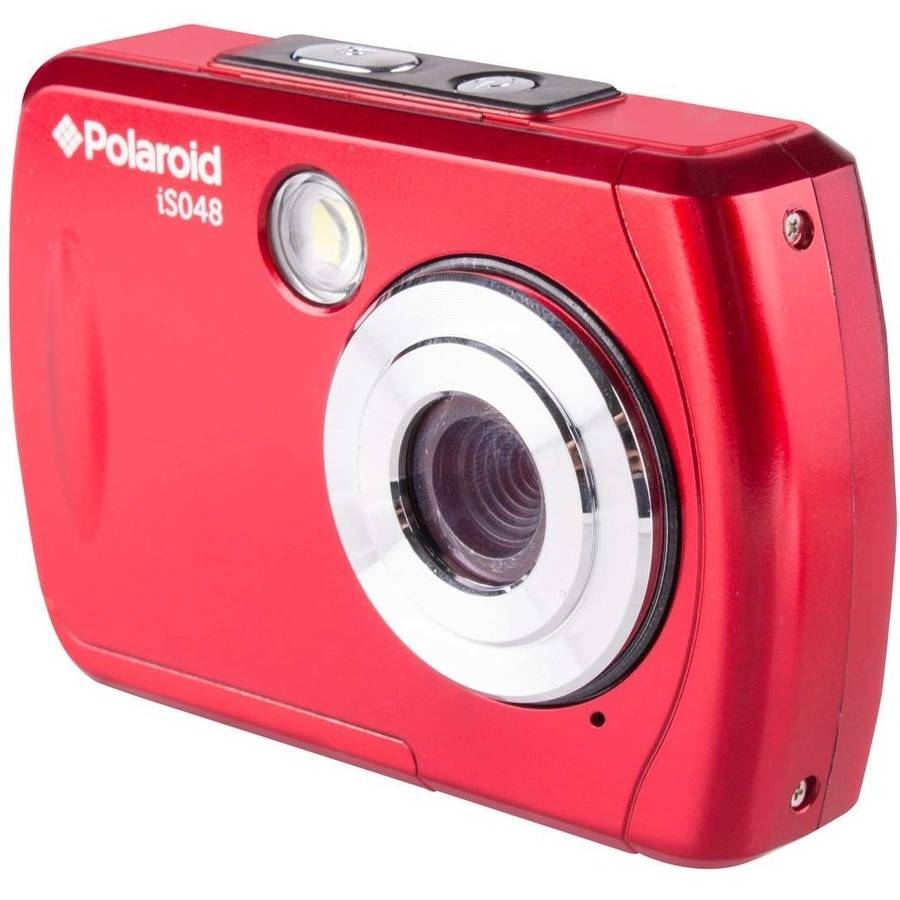 Polaroid Red Waterproof Digital Camera with 16 Megapixels