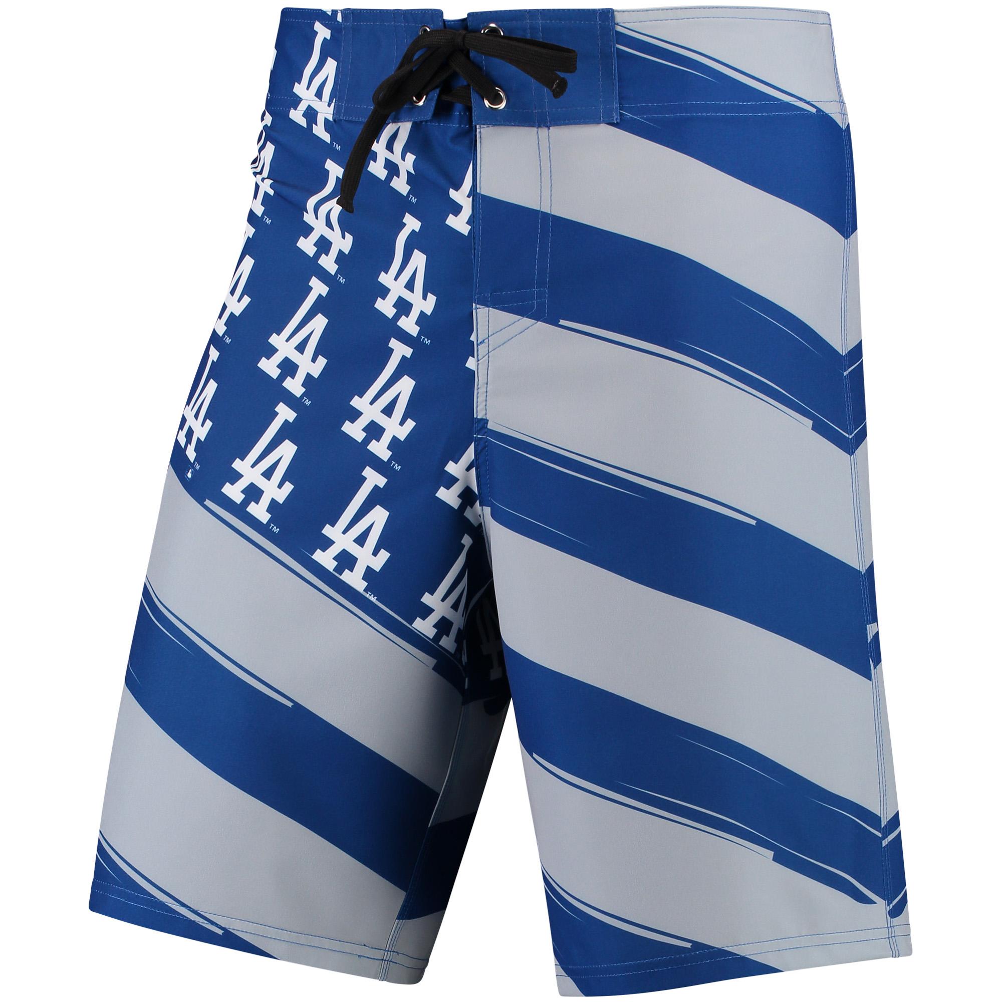Los Angeles Dodgers Diagonal Flag Boardshorts - Royal/Gray