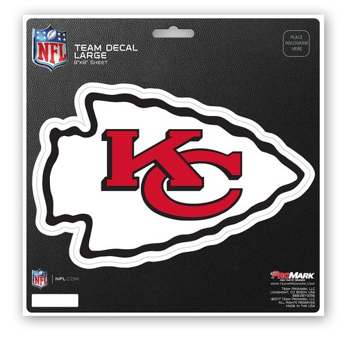 Kansas City Chiefs Decal 8x8 Die Cut