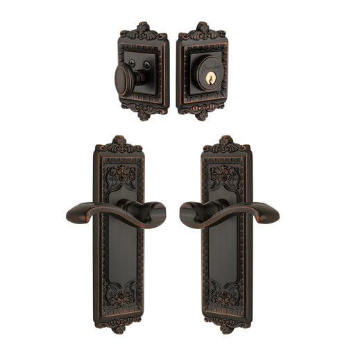 Grandeur Windsor Keyed Door Lever