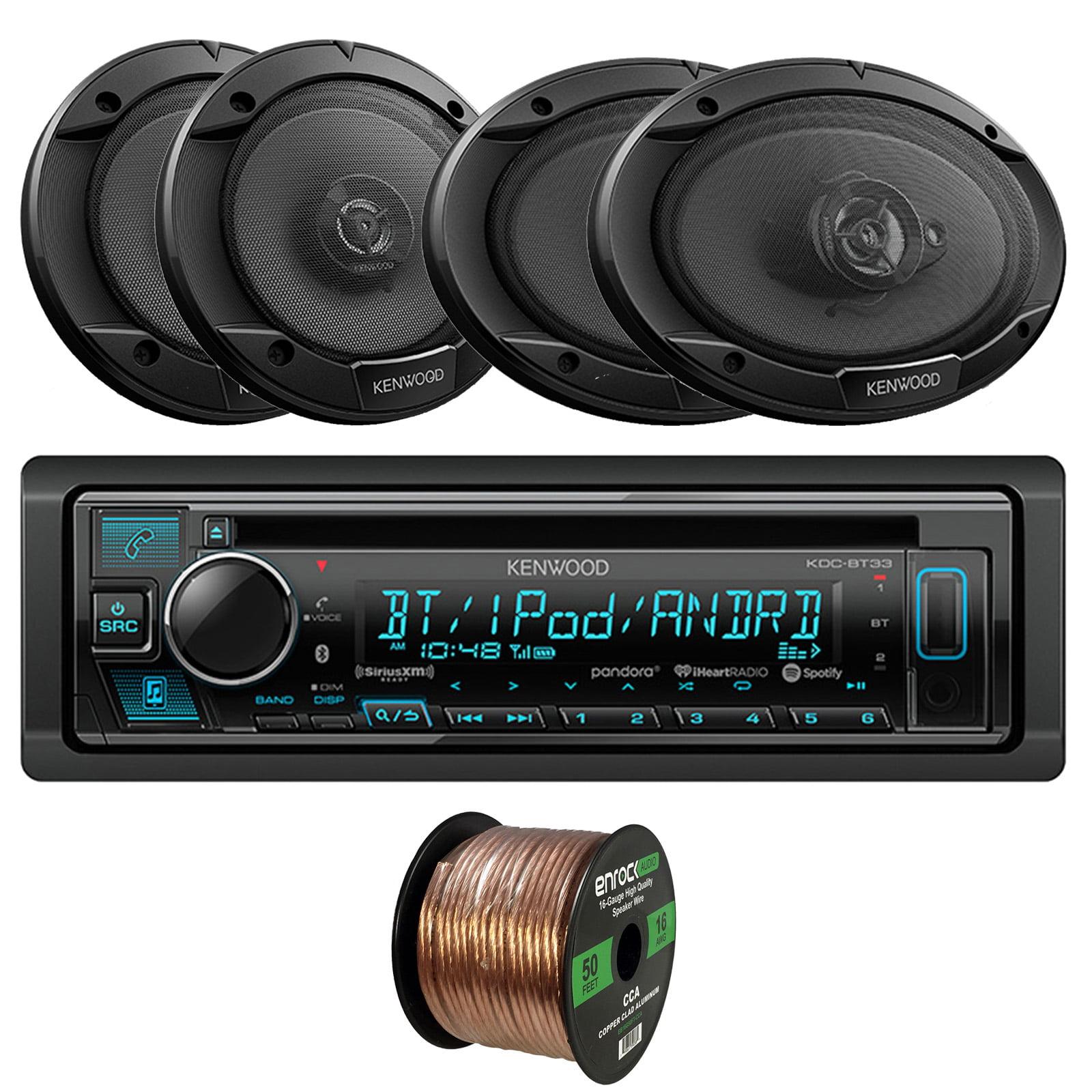 Kenwood KDC-BT33 Single-DIN In-Dash CD/Bluetooth Receiver