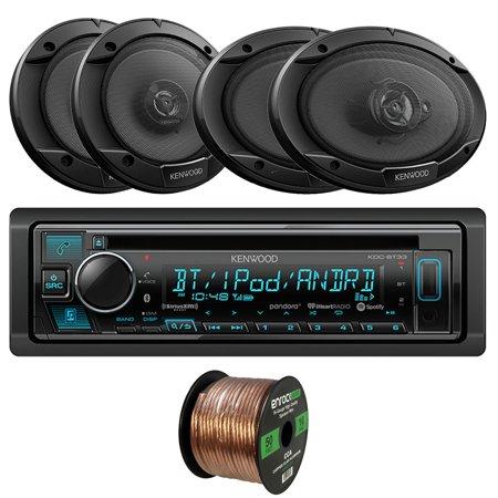 Kenwood KDC-BT33 Single-DIN In-Dash CD/Bluetooth Receiver w/ Variable Illumination, 2 x Kenwood KFC1666S 6.5