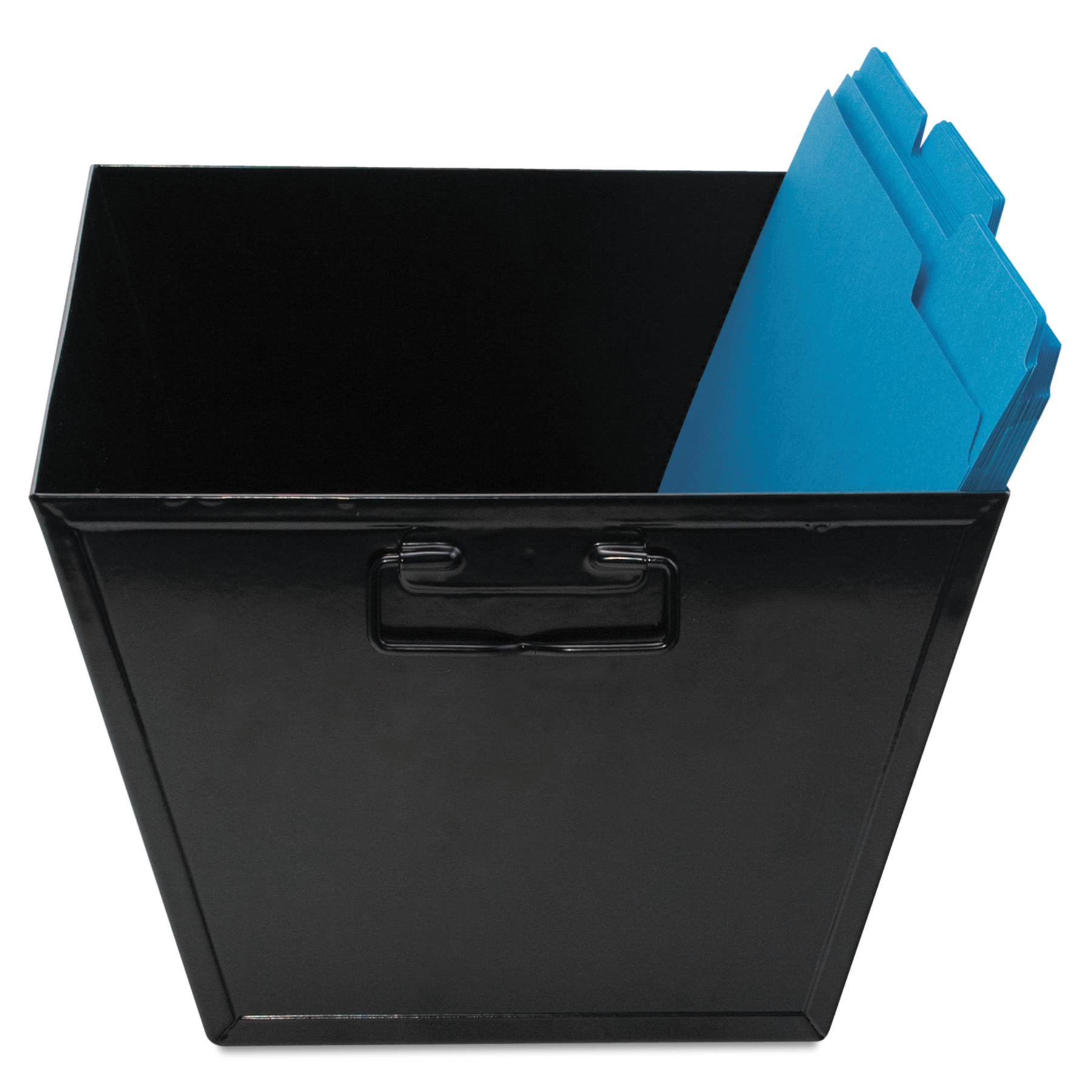 Advantus Steel File and Storage Bin, Legal, 15 1/4 x 11 1/4 x 7 1/4, Black -AVT63009