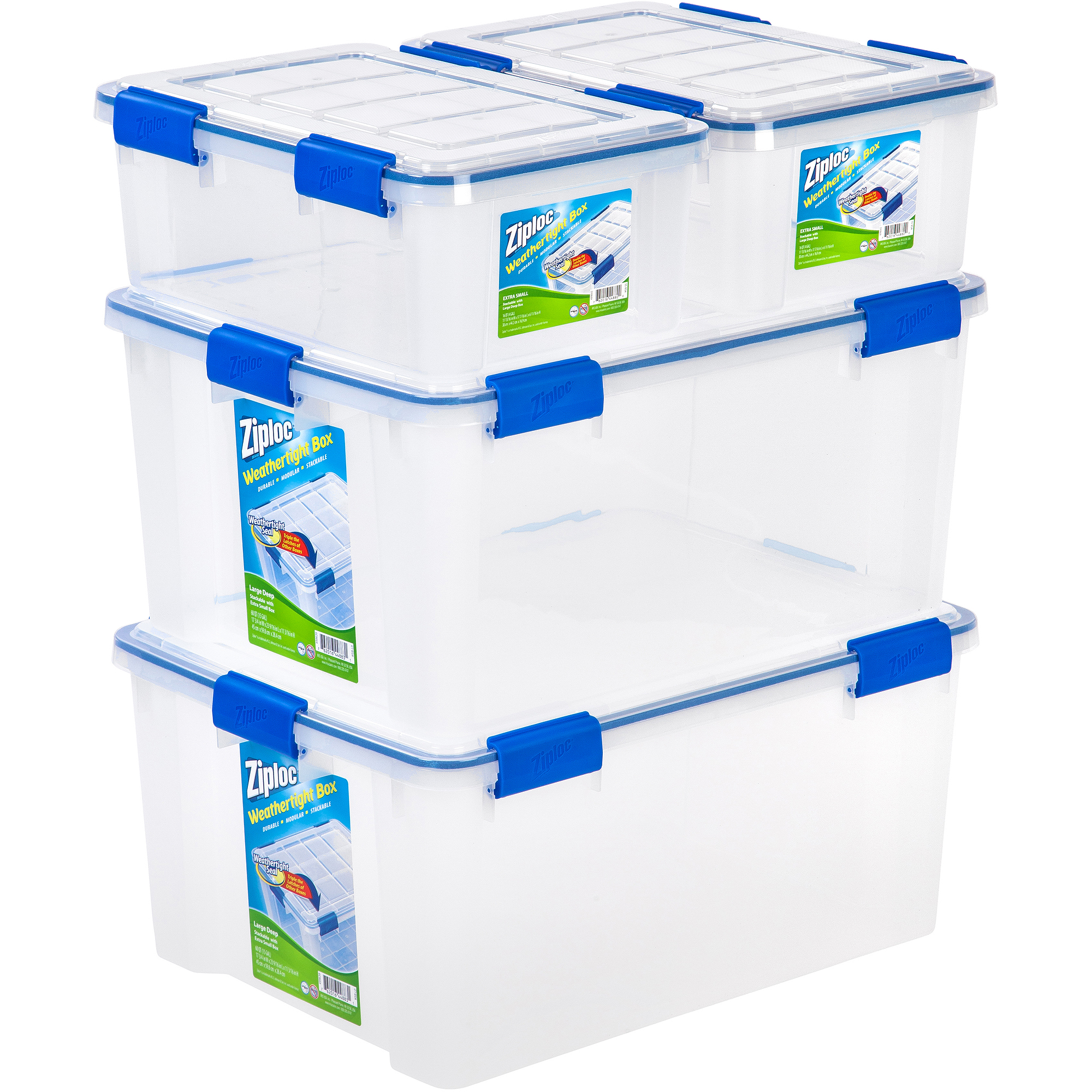 Ziploc 4-Piece Extra Small/Large Deep Weathertight Storage Set