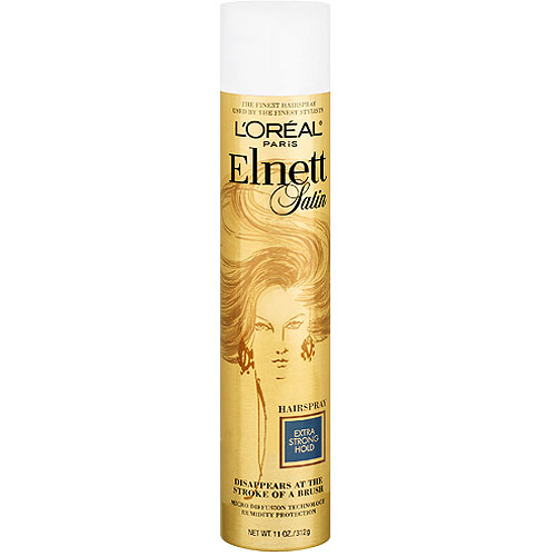 Loreal Elnett Satin Hairspray Extra Strong Hair Hold Spray - 11 Oz