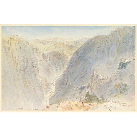 Agia Paraskevi Epirus Greece Poster Print By Edward Lear  British London 1812   1888 San Remo   18 X 24