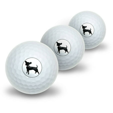 Chihuahua Novelty Golf Balls, 3pk](Novelty Golf Items)