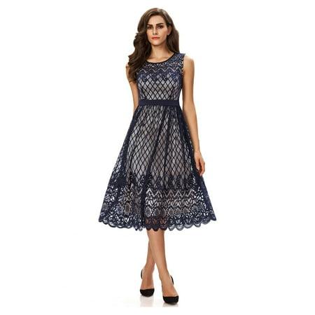 Noctflos Summer Dresses For Plus Size Women Lace Sleeveless