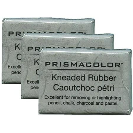 Kneaded Art Eraser - PRISMACOLOR DESIGN Eraser, 1224 Kneaded Rubber Eraser Large, Grey (70531) (3 Pack)