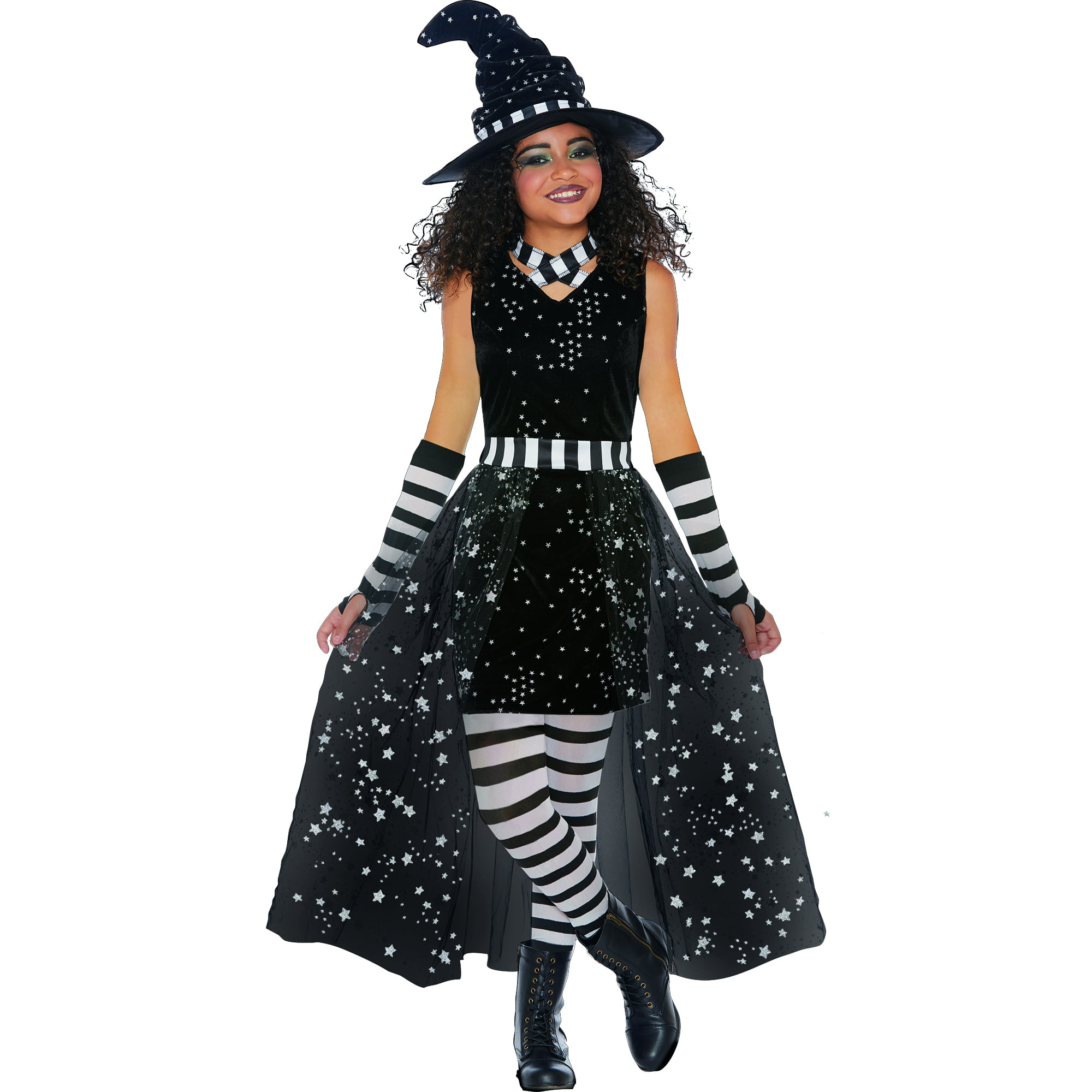 Girls Celestial Witch Halloween Costume, Large