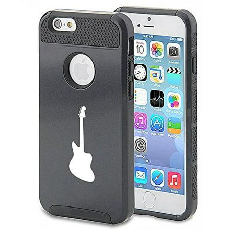 Apple Iphone Se Shockproof Impact Hard Soft Case Cover Bass Guitar  Black  Mip