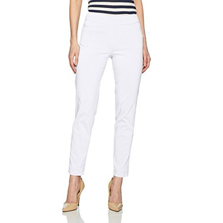 e0f4e76e51b SLIM-SATION Womens Ankle Pant. White. 8