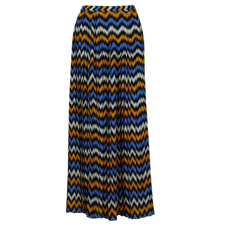 84c5ba2f6b MICHAEL Michael Kors - Michael Kors Women's Multicolor Pleated Maxi Skirt  (XS, Orange/Blue/White Print) - Walmart.com