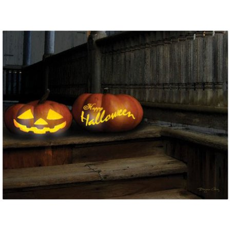Ohio Wholesale Radiance Lighted Happy Halloween Canvas Wall Art, from our Halloween Collection - Halloween Heath Ohio