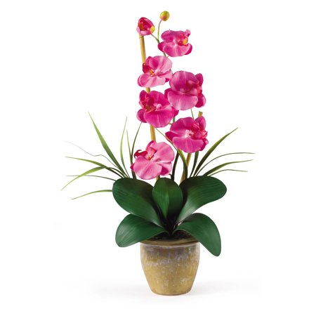 Nearly Natural Single Stem Phalaenopsis Orchid Silk Flower