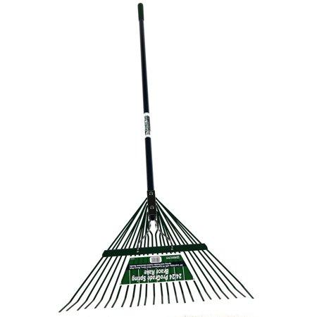 Midwest rake llc 40924 24 blue heavy duty aluminum spring for Heavy duty garden rake