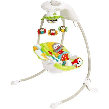 Fisher Price Baby Papasan Cradle - Fisher-Price Woodland Friends Cradle 'N Swing Adjustable Baby Bouncer Swing