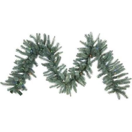 LED Colorado Blue Wreath with Warm White Lights - 60 in. - image 1 de 1
