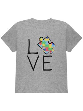 623ceb53c Product Image Autism Awareness Love Puzzle Piece Youth T Shirt