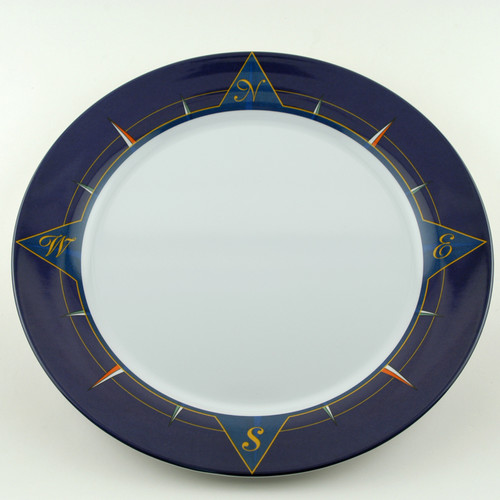 Galleyware Company Decorated Melamine Compass Non-skid Platter (Set of 2)