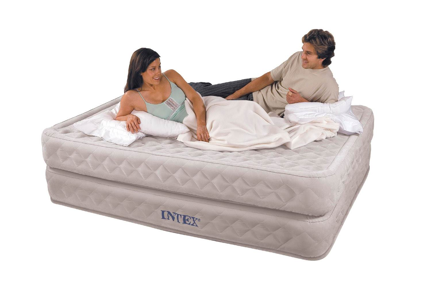 Intex Queen 20 Supreme Air Flow Airbed Mattress With Built In Pump Walmart Com Walmart Com