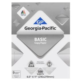 georgia pacific basic copy paper 85 x 11 20 lb 88 brightness