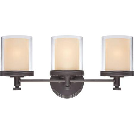 71 Gilded Iron Finish - Bathroom Vanity 3 Light With Sudbury Bronze Finish Iron Medium Base 22 inch 300 Watts