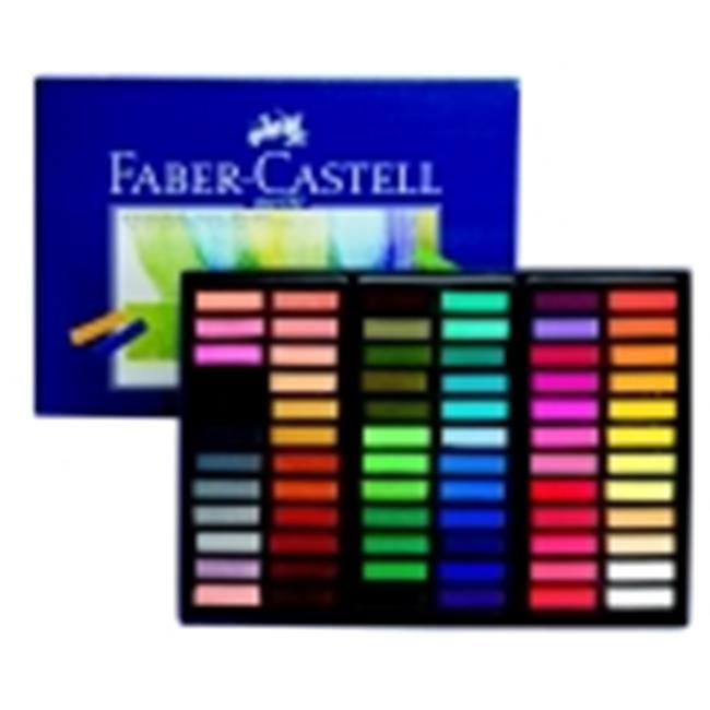 Faber-Castell 0. 31 x 1. 25 inch Creative Studio Non-Toxic Square Soft Pastel Set 48