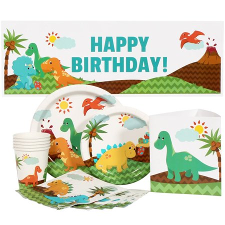 Little Dinosaur Party Package for 16 - Little Dino Party Supplies