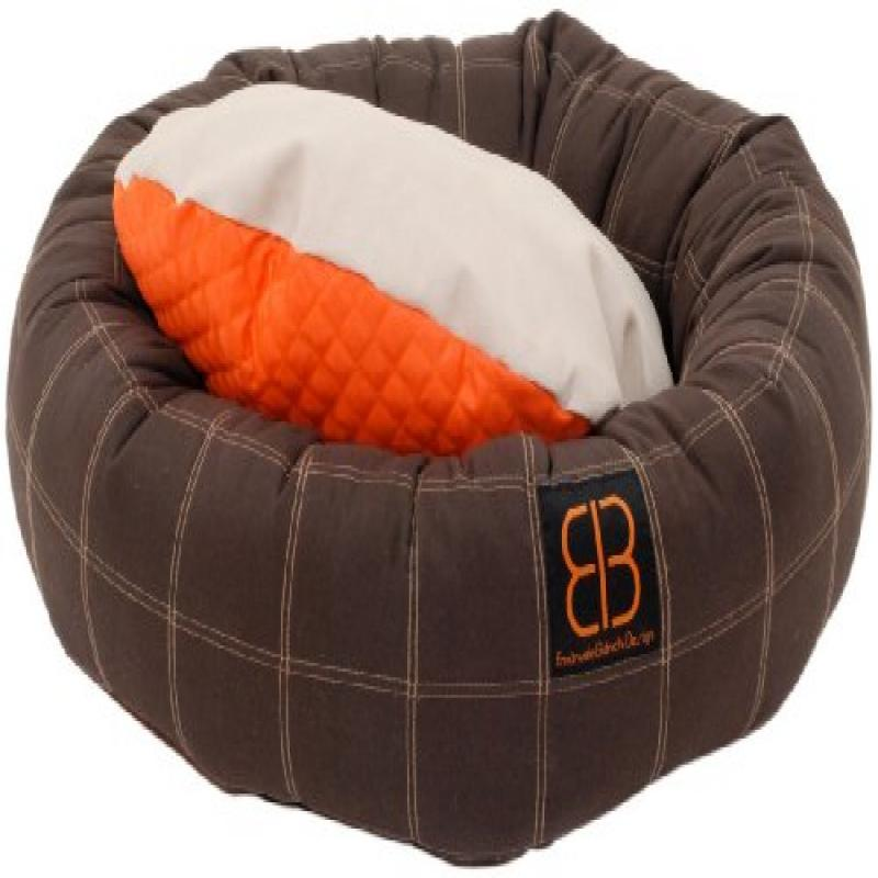 Petego Dozer Donut Round Bolster Dog Bed, Small, 23 1/2 Inches