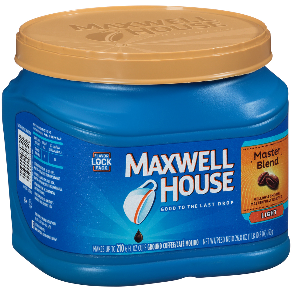 Maxwell House Master Blend Ground Coffee 26.8 oz. Tub