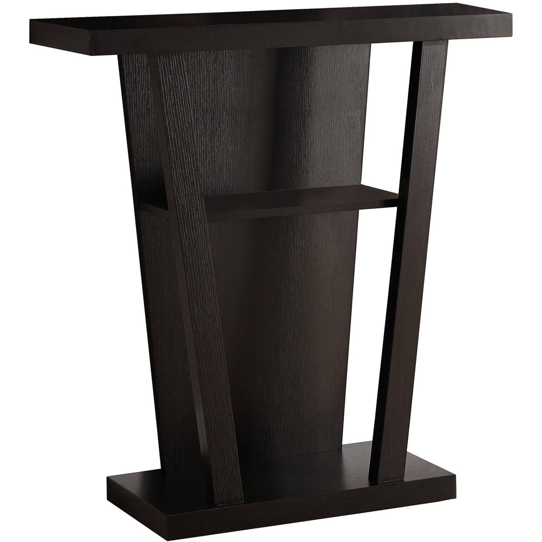 """Hall Console monarch accent table 32""""l / cappuccino hall console - walmart"""